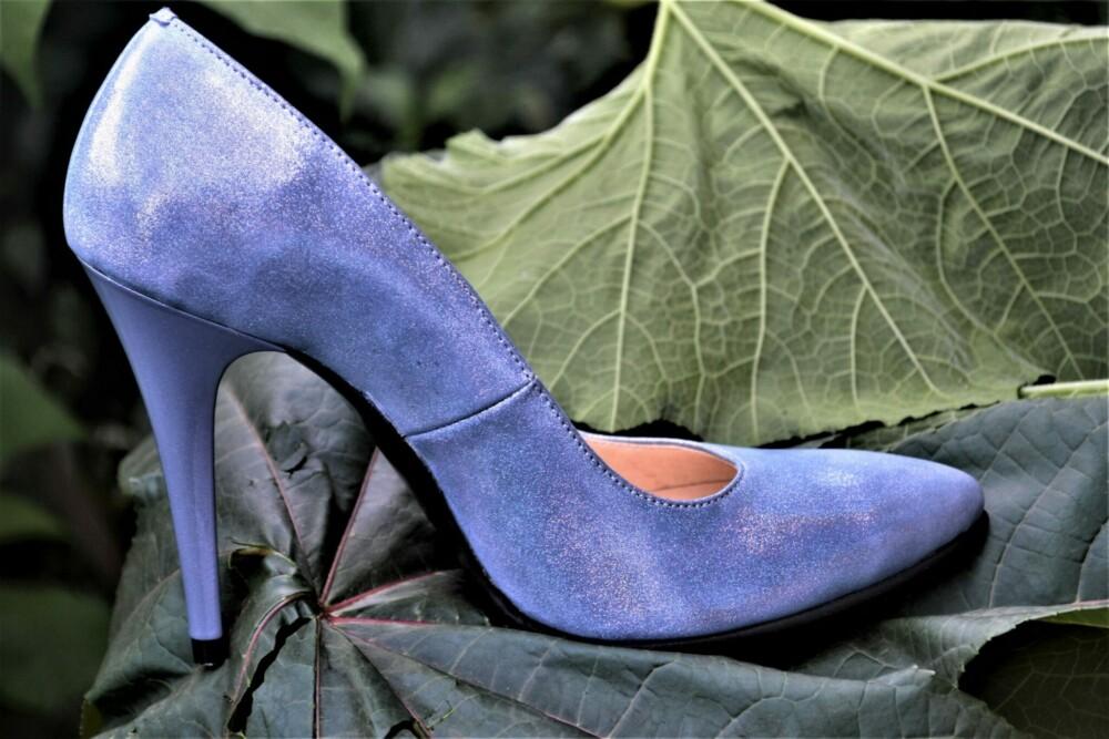 Pantofi stiletto din piele naturala