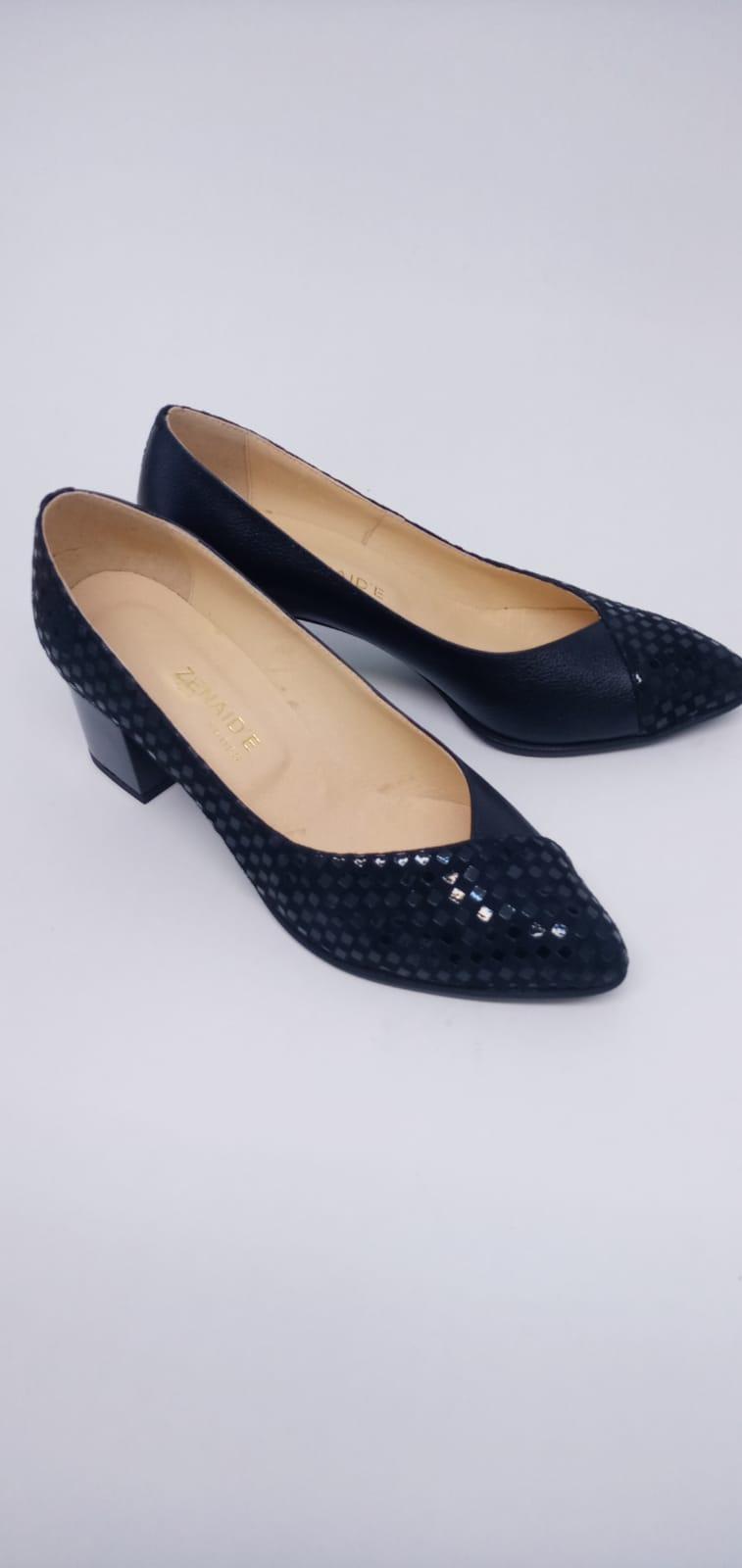 Pantofi din piele naturala cu print sarpe