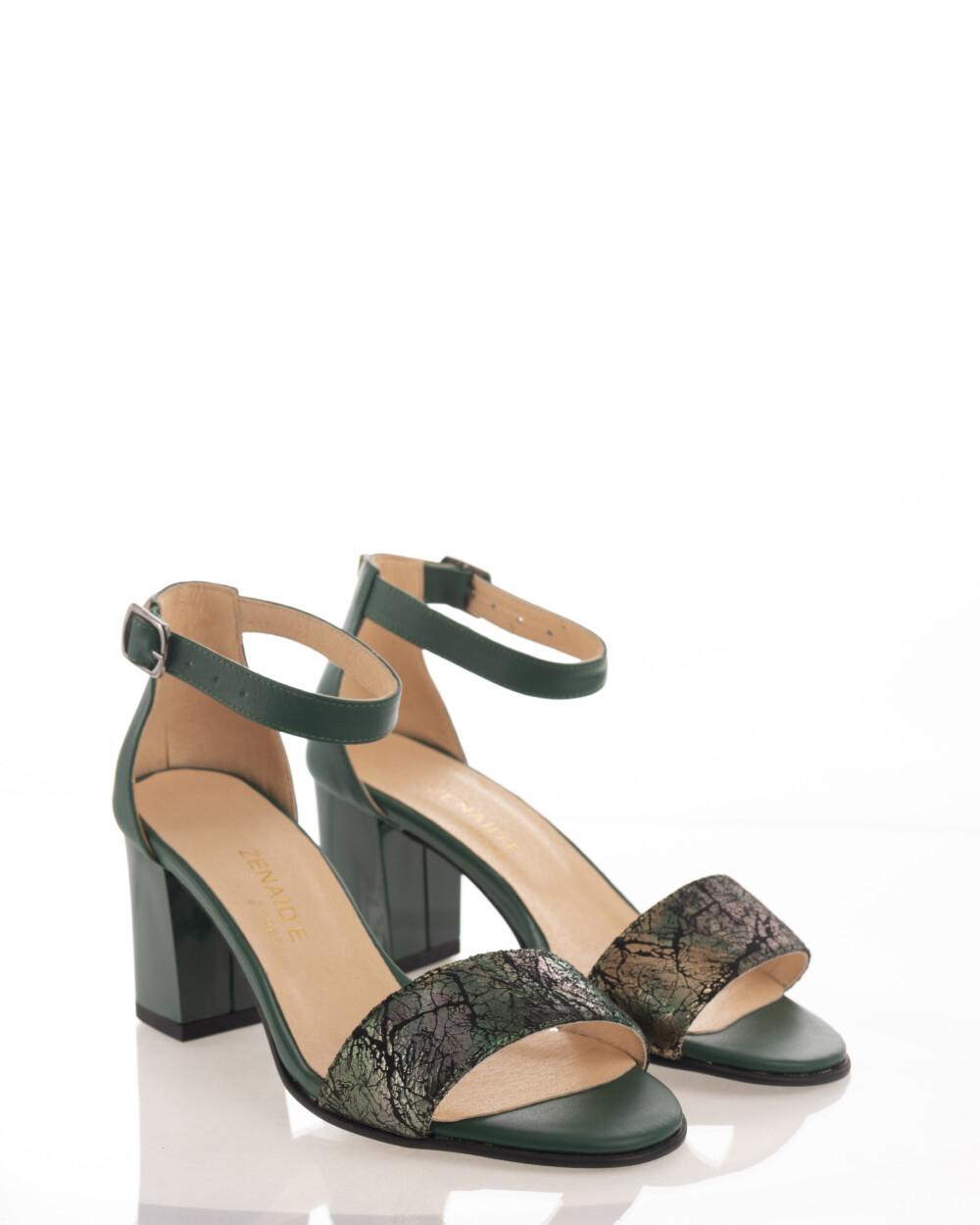 Sandale verzi din piele naturală