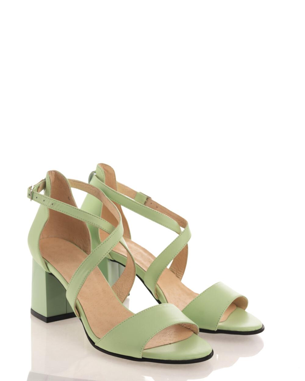 Sandale fistic din piele naturală