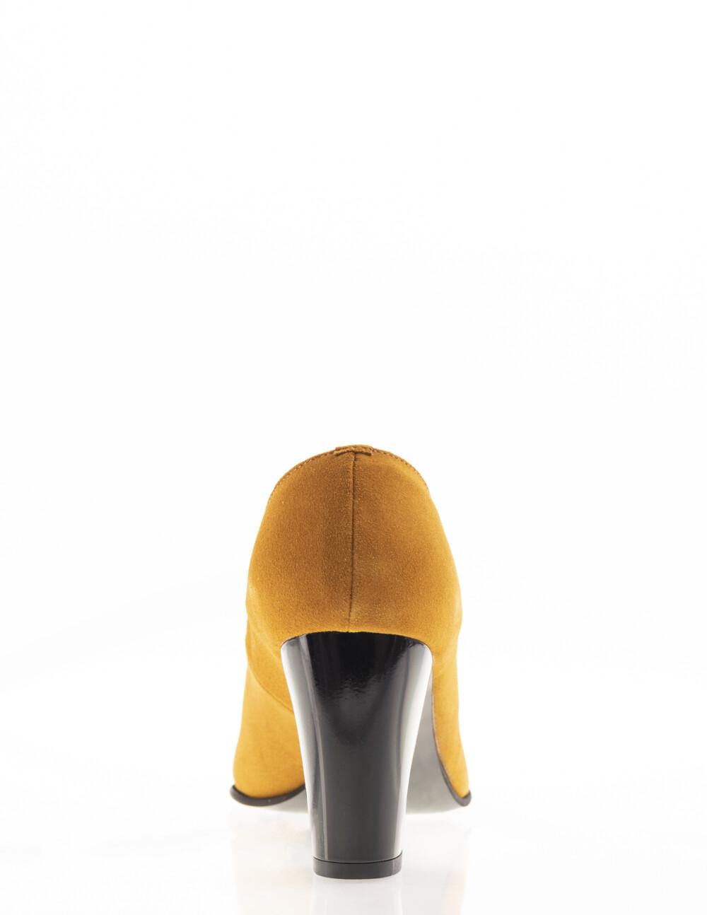 Pantofi mustar din piele naturală