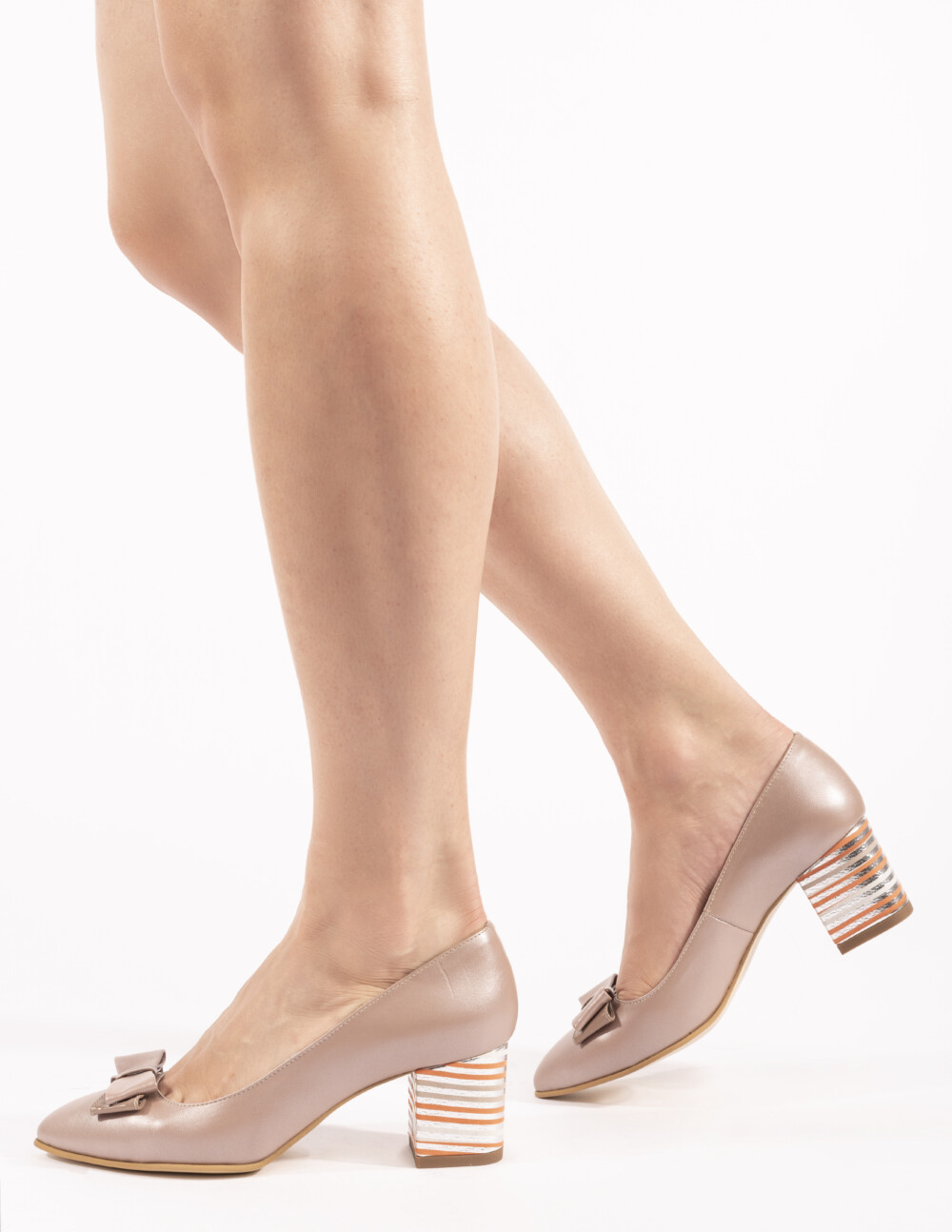 pantofi din piele naturala cappuccino