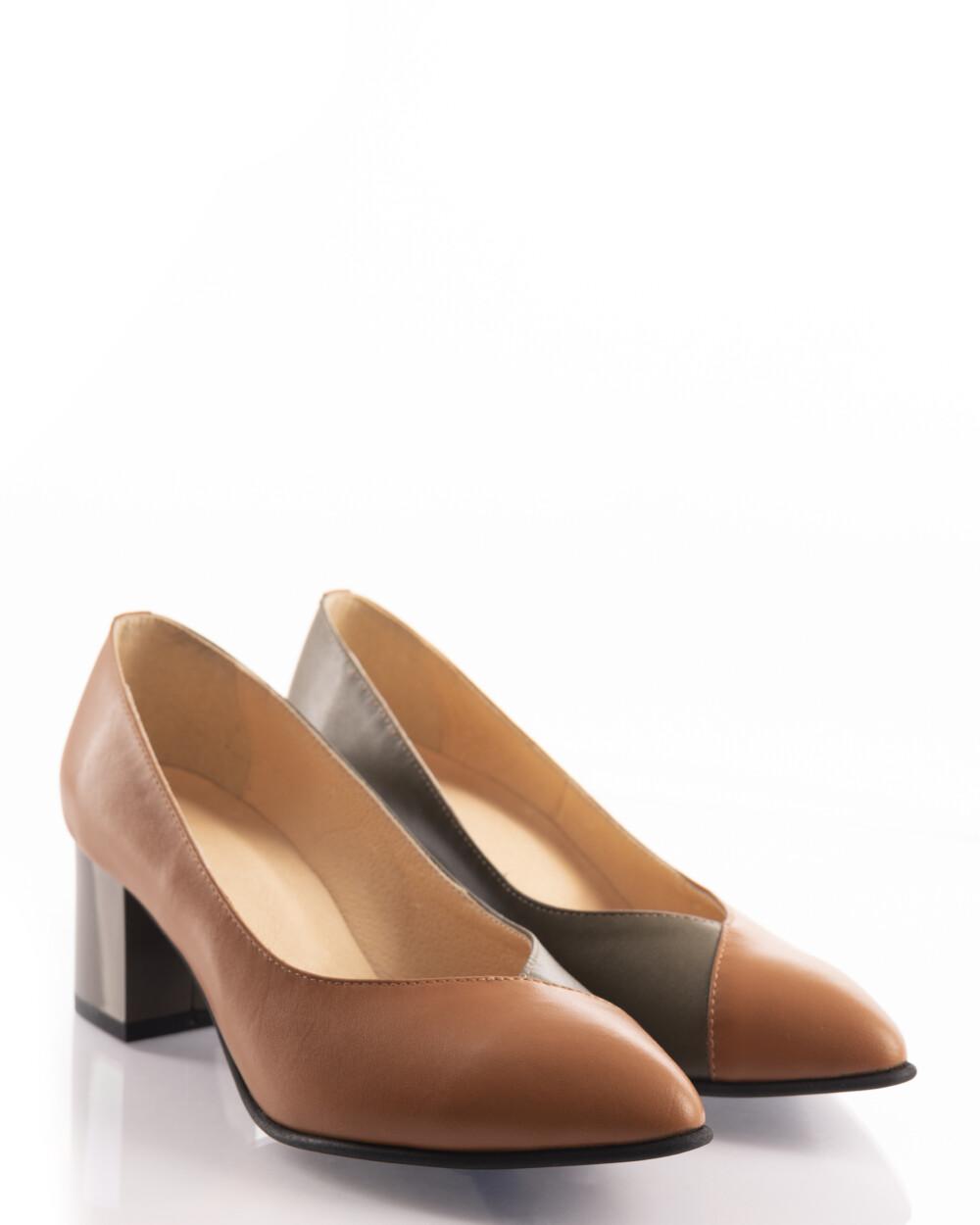 pantofi muștar din piele naturală