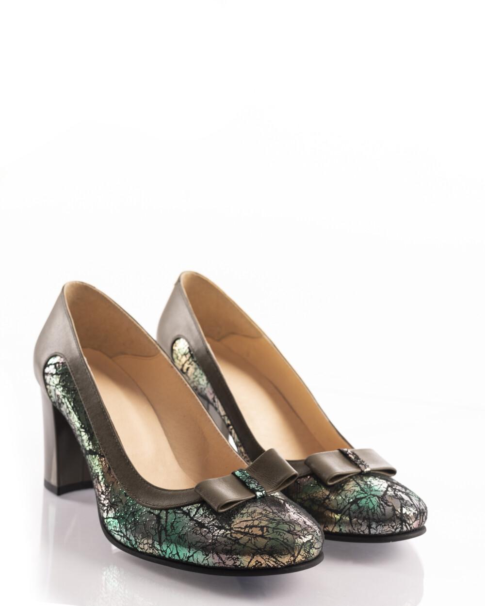 pantofi office kaki din piele naturală