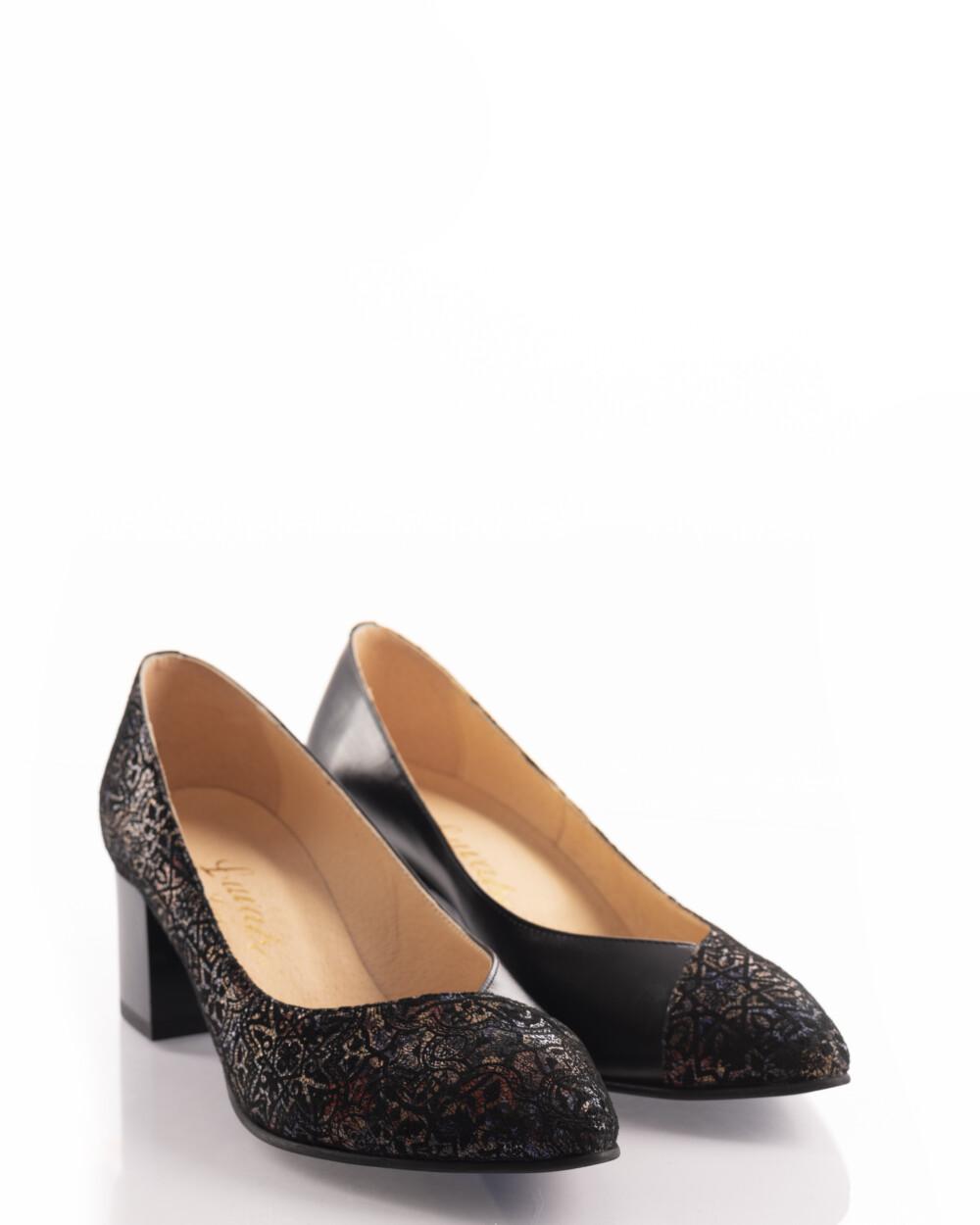 pantofi din piele naturala negru